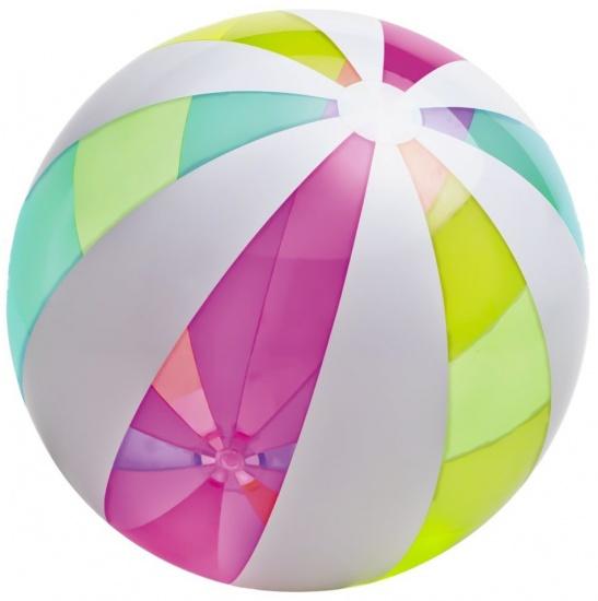 Intex strandbal met gekleurde strepen 107 cm