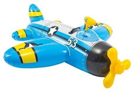 Intex Vliegtuig opblaasvliegtuig 132 x 130 cm blauw