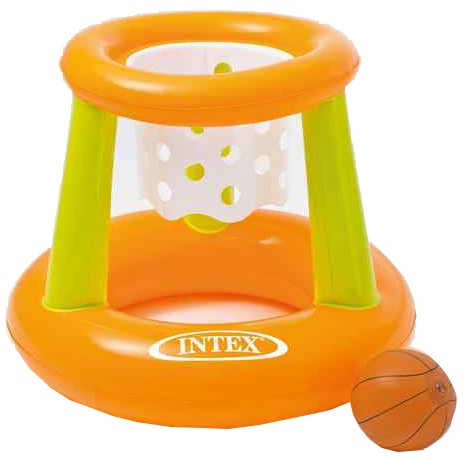 Intex waterbasketbal set oranje/groen 67 x 55 cm