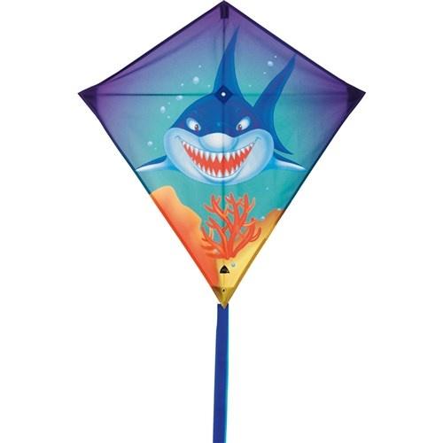 Invento eenlijnsvlieger Eddy Sharky 68 cm blauw