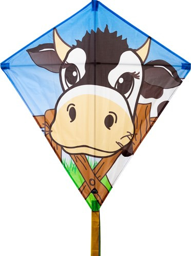 Invento vlieger Eddy Cow junior 68 x 68 cm polyester
