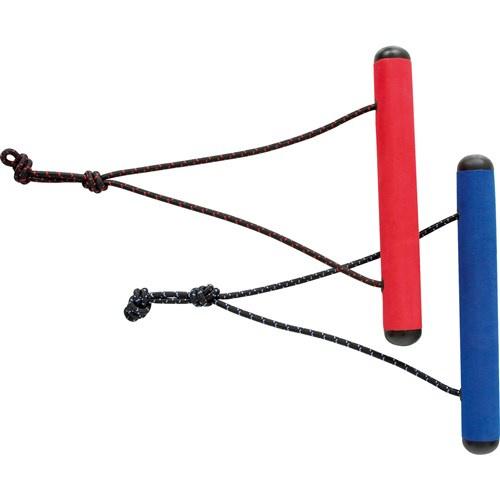 Invento vlieger handgrepen Dual Handles staal/foam rood/blauw