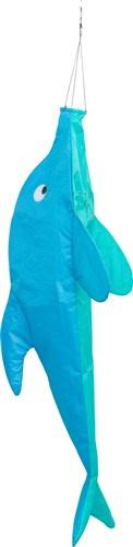 Invento windzak dolfijn 100 x 35 cm polyester blauw
