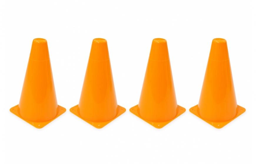 Jamara pionnen Traffic 10 x 17 cm oranje 4 stuks