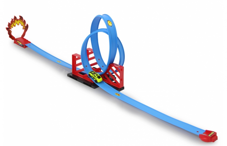 Jamara racebaan Double Looping 117,5 cm blauw