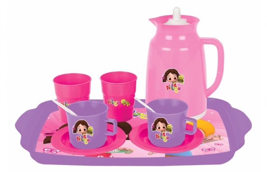 JAMARA theeset roze/paars 10 delig