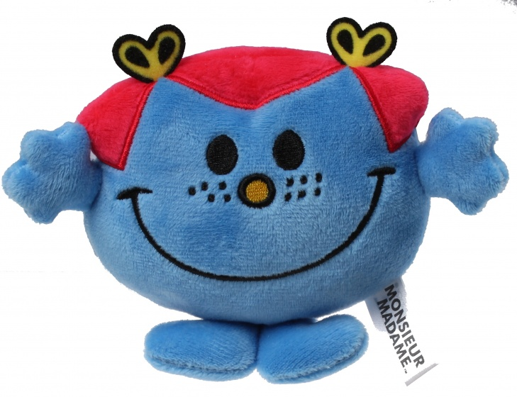 Jemini Monsieur Madame knuffel Mme Risette blauw 12 cm