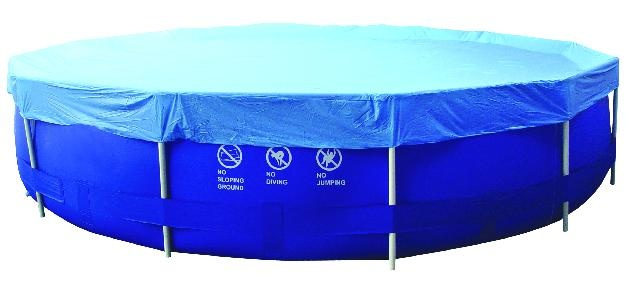 Jilong Afdekzeil Cover Sirocco rond blauw 450 cm