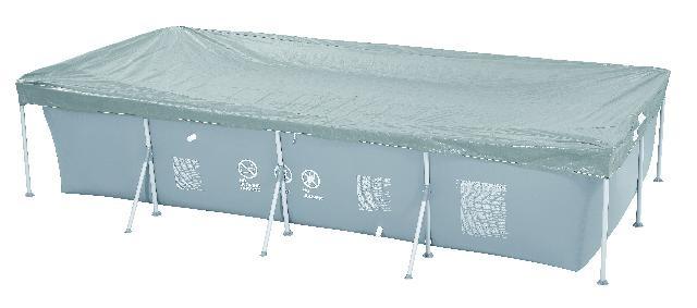 Jilong Afdekzeil Cover Passaat rechthoek grijs 394 x 207 x 80 cm