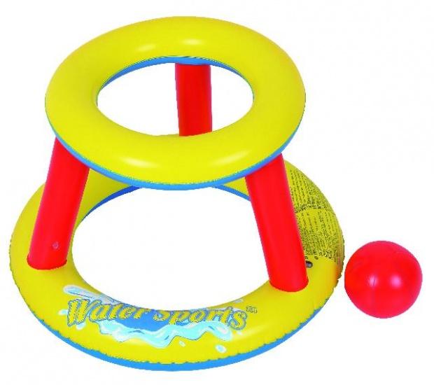 Jilong Drijvende Basketbalring 74 x 74 x 52.5 cm geel/rood