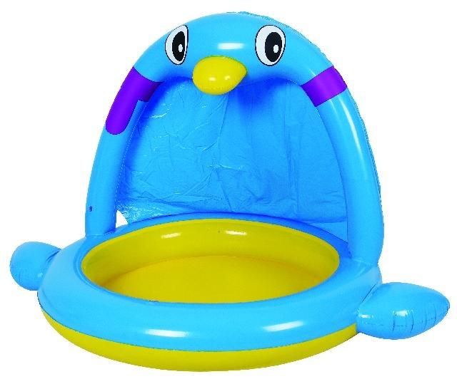 Jilong Kinderzwembad Spraypool pinguïn 145 x 106 x 91 cm blauw