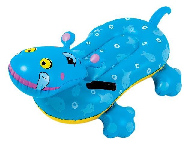 Jilong Opblaasdier Rider Nelis nijlpaard 104 x 70 cm blauw