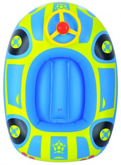 Jilong Opblaasboot Kinder auto 67.5 x 50 cm blauw/geel
