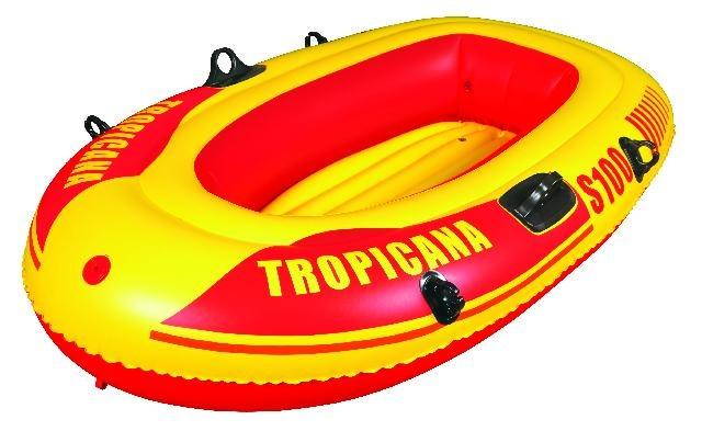 Jilong Opblaasboot tropicana S100 143 x 86 x 26 cm geel/rood