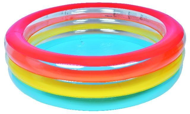 Jilong Opblaaszwembad Familie rond gekleurde ringen 187 x 50 cm