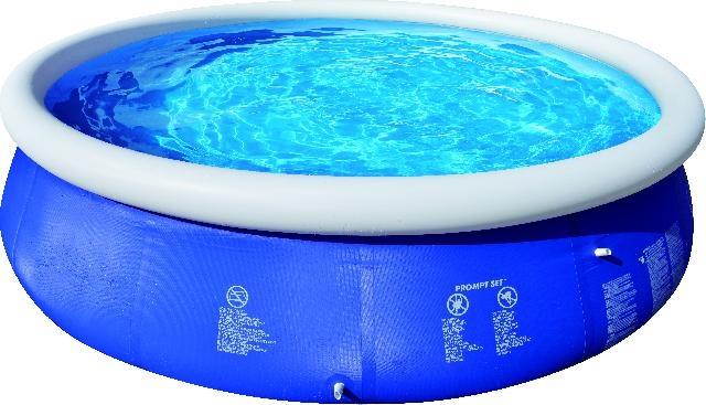 Jilong Opblaaszwembad Marin set rond blauw 450 x 90 cm blauw