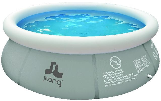 Jilong Opblaaszwembad Marin set rond extra grijs 450 x 106 cm