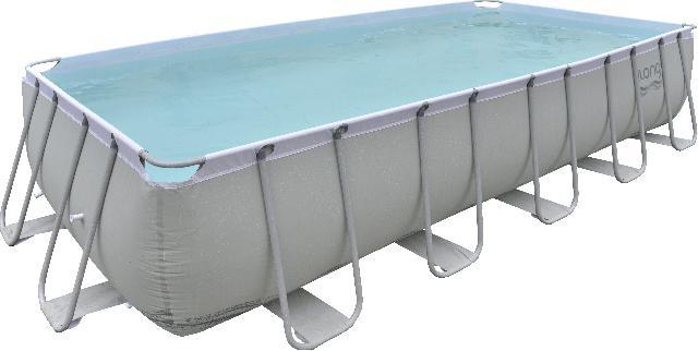 Jilong Opzetzwembad Mistral set rechthoek grijs 540x274x122 cm