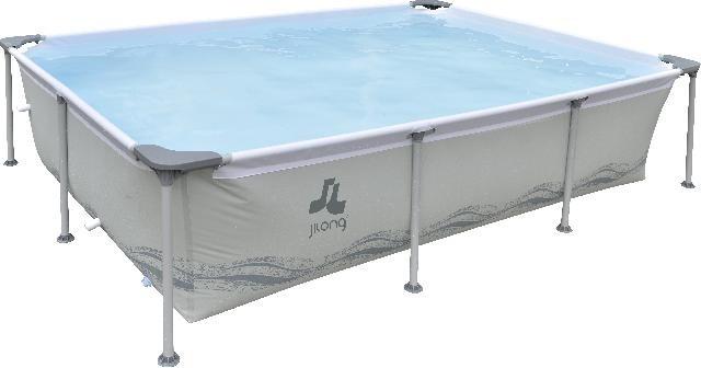 Jilong Opzetzwembad Passaat rechthoek grijs 394 x 207 x 80 cm