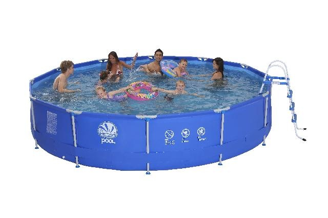 Jilong Opzetzwembad Sirocco set rond blauw 360 x 76 cm