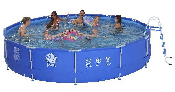 Jilong Opzetzwembad Sirocco set rond blauw 450 x 90 cm