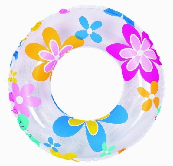 Jilong Zwemband bloem 60 cm transparant/gekleurd