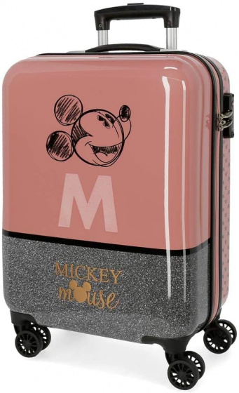 Disney Mickey Mouse koffer 34 liter bruin/zilver