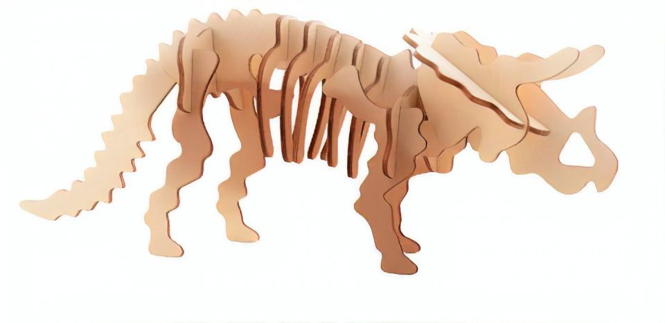 Johntoy 3D dinosaurus puzzel hout triceratops