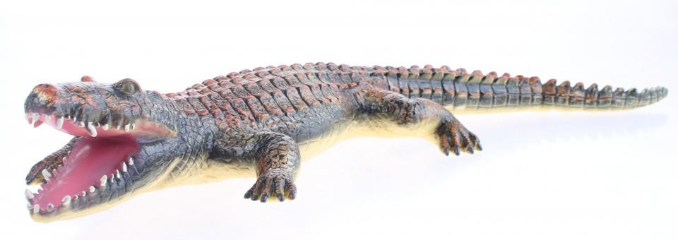 Johntoy Animal World Soft Touch Crocodile Orange / Brown