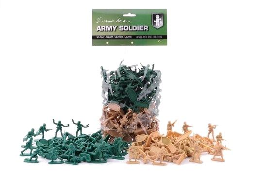 100 Speelgoed soldaatjes