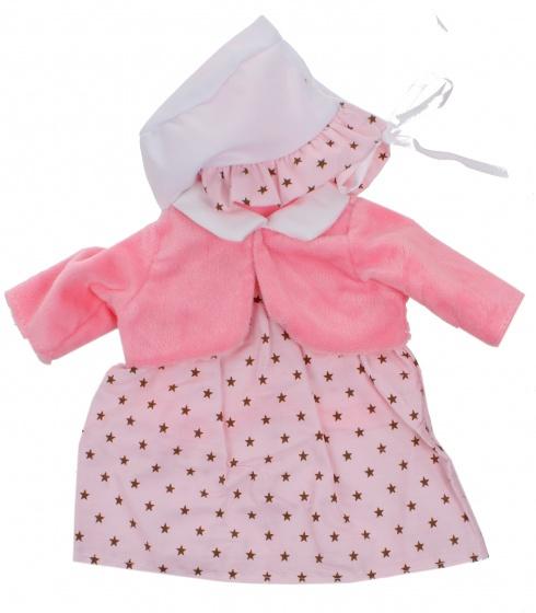 Johntoy Baby Rose babypoppenkleren stippen 40 45 cm