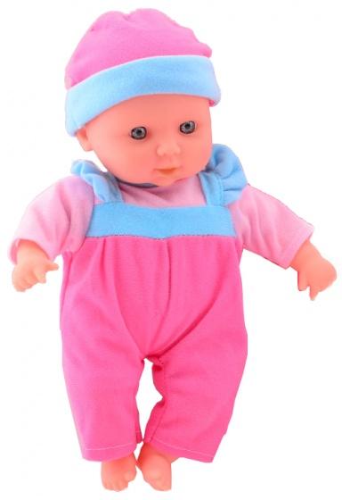 Johntoy babypop muts roze 10 verschillende geluiden 30 cm.