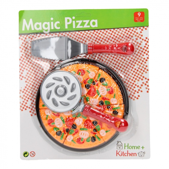 Home and Kitchen play set pizza 9-piece
