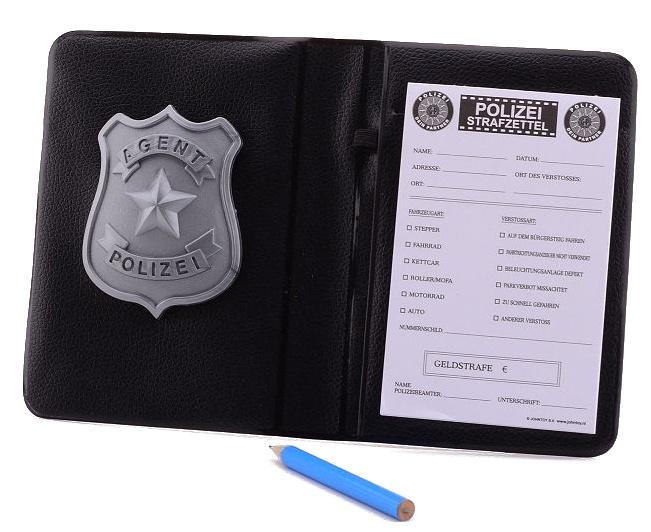 Johntoy luxe politie bonnenboekje Duits