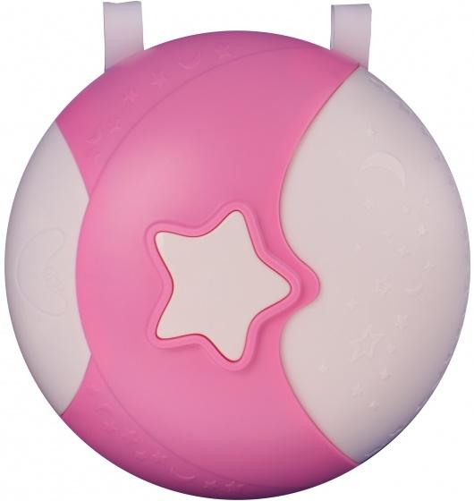 Johntoy magisch nachtlampje met geluid 21 cm roze