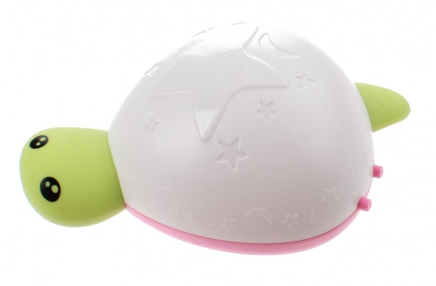 Johntoy nachtlamp Schildpad met geluid 14 cm wit-groen