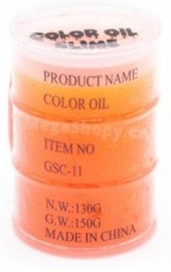 Johntoy Olievat slime oil 8 cm oranje