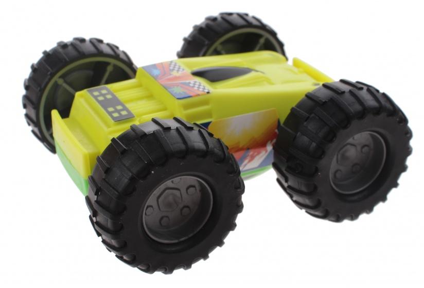 Johntoy Play Gear flipover auto geel/groen 9 x 8 x 4 cm