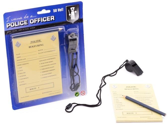 Johntoy Politie Bekeuringen Speelset Met Potlood en Fluit