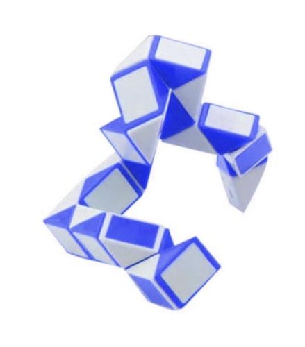Johntoy puzzel Magische Slang blauw/wit