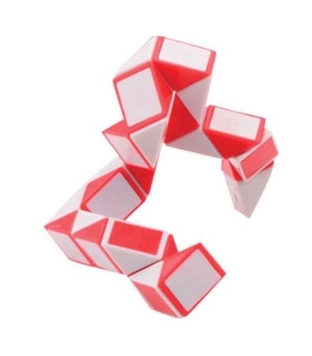 Johntoy puzzel Magische Slang rood/wit