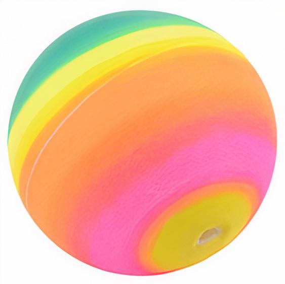 Johntoy regenboogballen 7 cm rubber 3 delig