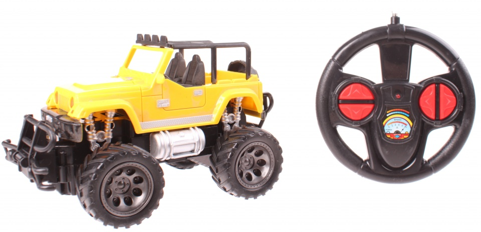 Johntoy rock crawler off road auto schaal 1:24 geel