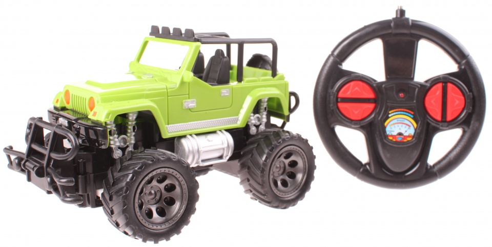 Johntoy rock crawler off road auto schaal 1:24 groen
