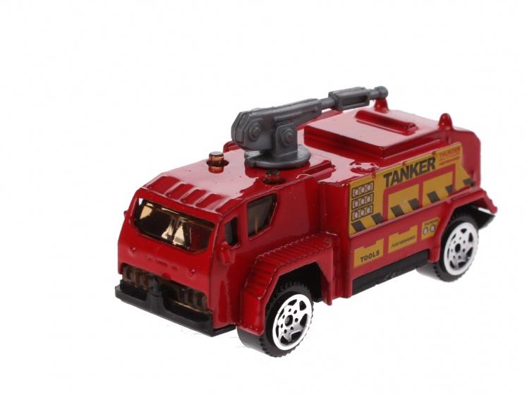 Johntoy schaalmodel spuitwagen 1:64 rood 7 cm
