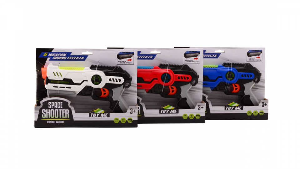Johntoy spaceshooter 20 cm wit