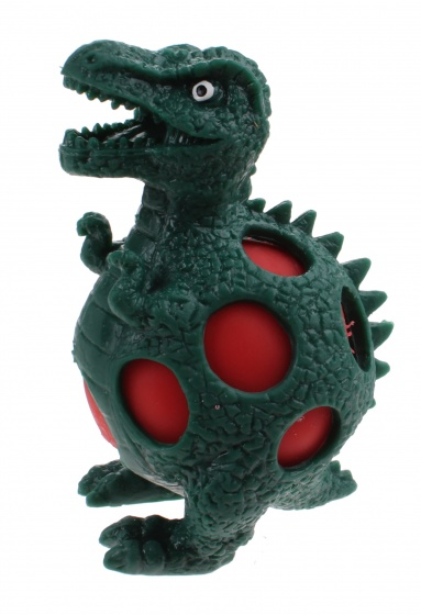 Johntoy squeezy Dino rubber 10 cm groen