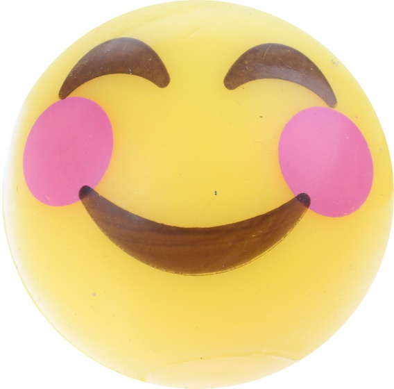 Johntoy stuiterbal Emoji One 2 met licht 5 cm