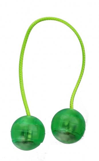 Johntoy Trick en Click ballen met licht 20 cm groen