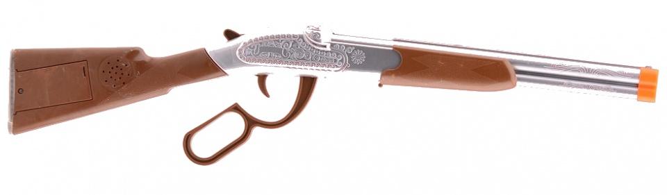 Johntoy Wild West geweer met geluid zilver/bruin 55 cm